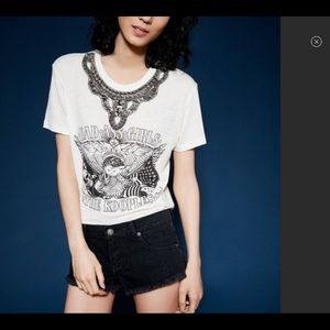 Kooples T-shirt with serious beadwork